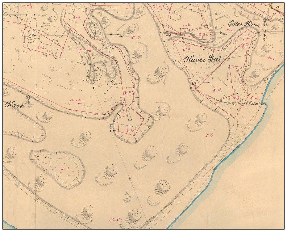 Sonderhos To Somaerker Pa Thobolls Kort Fra 1820