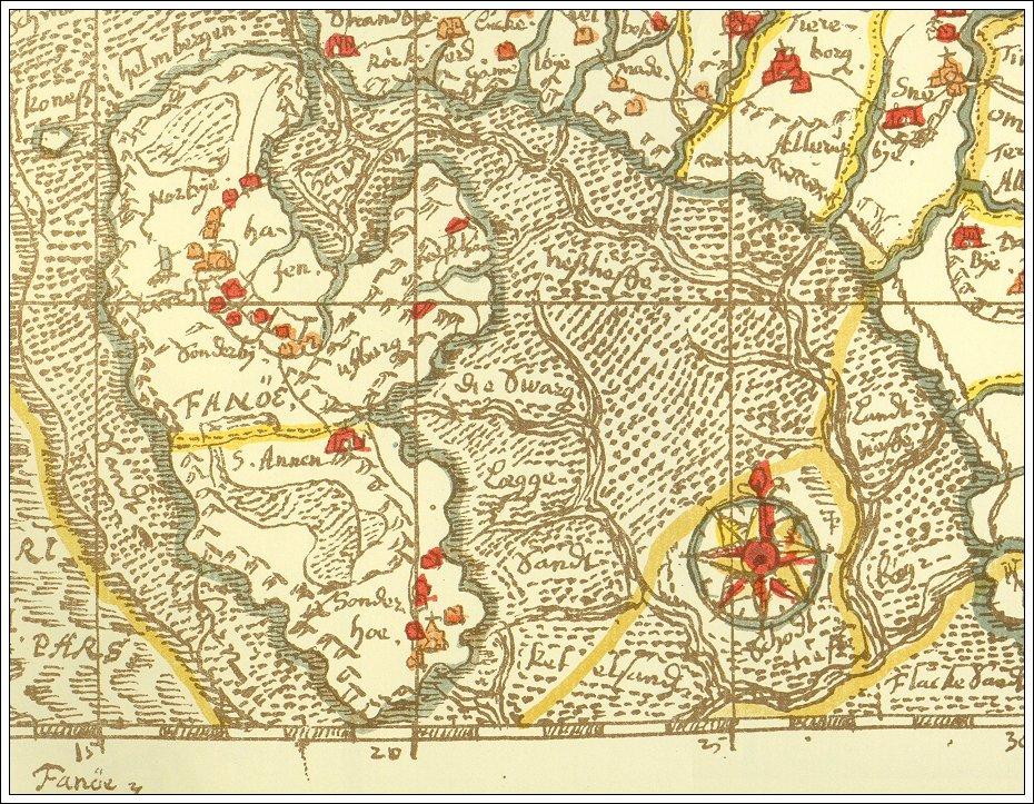Johannes Mejer Kort Over Det Danske Rige Fano Kort 43